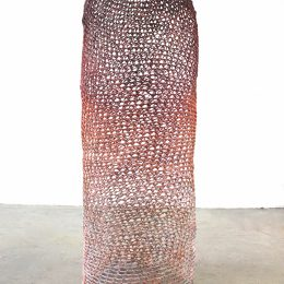 Lipsticulum - 2014 - Crocheted and heat manipulated polypropylene yarn, acrylic paint 90x35x35cm