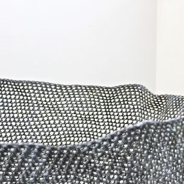 One, Many (detail) - 2014 - Crocheted and heat-manipulated polypropylene yarn, concrete powder pigment 147x60x60cm