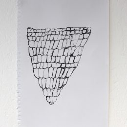 Inverted Triangle Net - 2014 - ink on paper 30x42cm